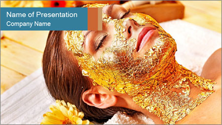 Gold mask PowerPoint Template
