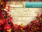 Fallen leaves PowerPoint Templates