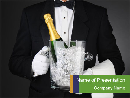 Champagne Ice Bucket PowerPoint Templates
