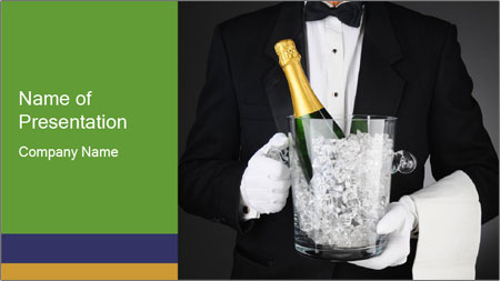 Champagne Ice Bucket PowerPoint Template