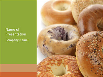 Assortment Of Bagels PowerPoint Templates - Slide 1