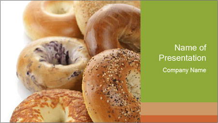 Assortment Of Bagels PowerPoint Template