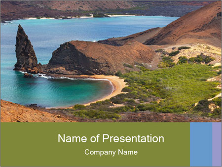 Bartolome island PowerPoint Templates