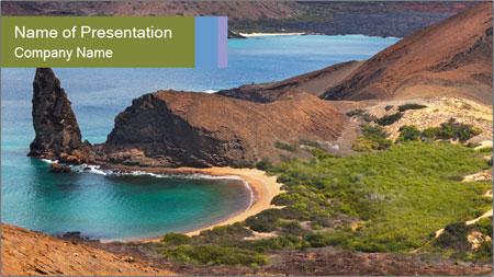 Bartolome island PowerPoint Template