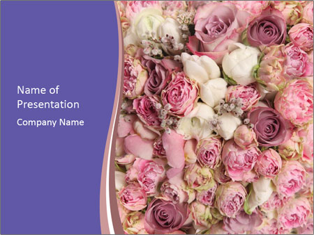 Wedding bouquet with rose bush PowerPoint Template