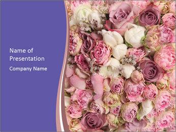 Wedding bouquet with rose bush PowerPoint Templates - Slide 1