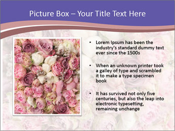 Wedding bouquet with rose bush PowerPoint Template - Slide 13