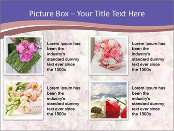Wedding bouquet with rose bush PowerPoint Template - Slide 14