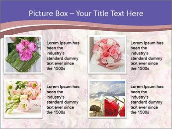 Wedding bouquet with rose bush PowerPoint Templates - Slide 14