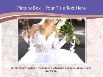 Wedding bouquet with rose bush PowerPoint Template - Slide 15