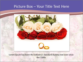 Wedding bouquet with rose bush PowerPoint Template - Slide 16
