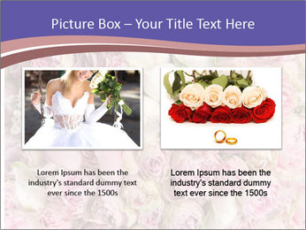 Wedding bouquet with rose bush PowerPoint Template - Slide 18