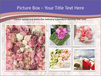 Wedding bouquet with rose bush PowerPoint Template - Slide 19