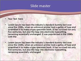 Wedding bouquet with rose bush PowerPoint Templates - Slide 2