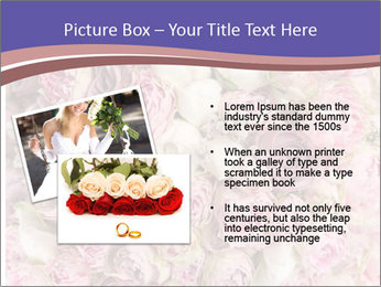 Wedding bouquet with rose bush PowerPoint Template - Slide 20