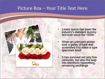 Wedding bouquet with rose bush PowerPoint Templates - Slide 20