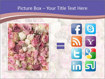 Wedding bouquet with rose bush PowerPoint Template - Slide 21