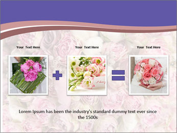 Wedding bouquet with rose bush PowerPoint Template - Slide 22