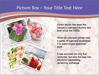 Wedding bouquet with rose bush PowerPoint Template - Slide 23