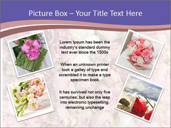 Wedding bouquet with rose bush PowerPoint Template - Slide 24