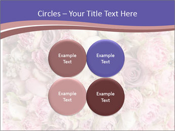 Wedding bouquet with rose bush PowerPoint Template - Slide 38