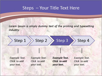 Wedding bouquet with rose bush PowerPoint Template - Slide 4