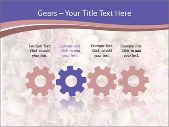 Wedding bouquet with rose bush PowerPoint Template - Slide 48