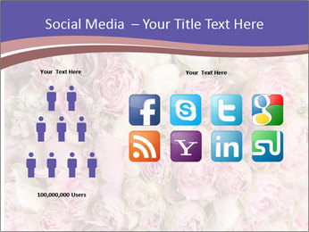 Wedding bouquet with rose bush PowerPoint Template - Slide 5