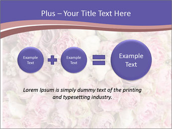 Wedding bouquet with rose bush PowerPoint Template - Slide 75