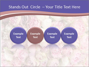 Wedding bouquet with rose bush PowerPoint Template - Slide 76