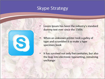 Wedding bouquet with rose bush PowerPoint Templates - Slide 8