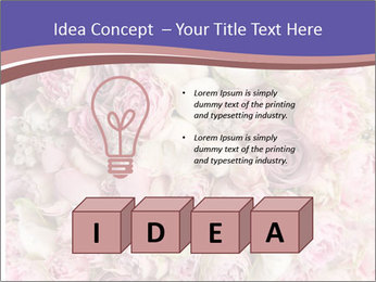 Wedding bouquet with rose bush PowerPoint Templates - Slide 80
