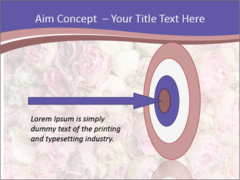 Wedding bouquet with rose bush PowerPoint Template - Slide 83