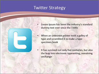 Wedding bouquet with rose bush PowerPoint Template - Slide 9