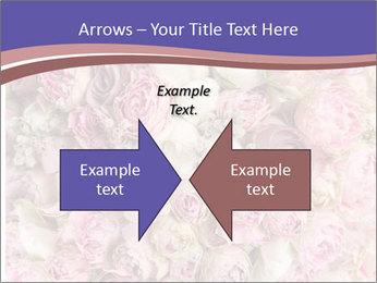 Wedding bouquet with rose bush PowerPoint Templates - Slide 90
