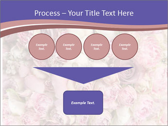 Wedding bouquet with rose bush PowerPoint Template - Slide 93