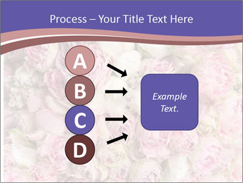 Wedding bouquet with rose bush PowerPoint Template - Slide 94