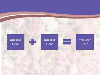 Wedding bouquet with rose bush PowerPoint Template - Slide 95