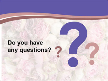 Wedding bouquet with rose bush PowerPoint Template - Slide 96