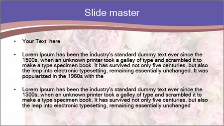 Wedding bouquet with rose bush PowerPoint Template - Slide 2