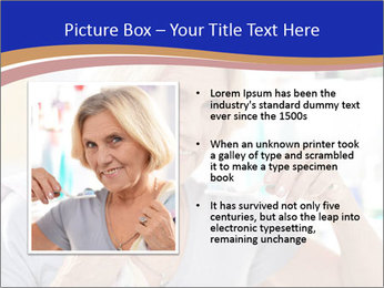 Woman brushing her teeth PowerPoint Templates - Slide 13