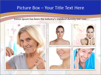 Woman brushing her teeth PowerPoint Templates - Slide 19