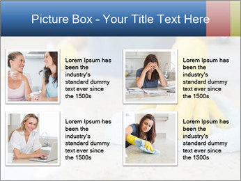 Woman cleaning kitchen PowerPoint Template - Slide 14