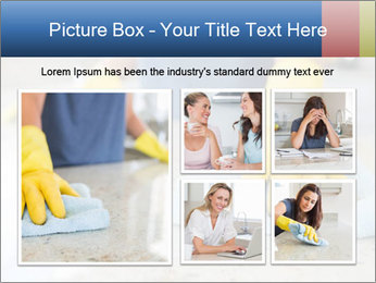 Woman cleaning kitchen PowerPoint Template - Slide 19