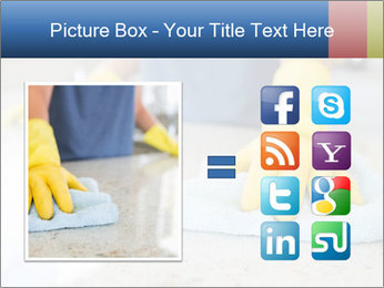 Woman cleaning kitchen PowerPoint Template - Slide 21