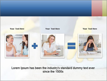 Woman cleaning kitchen PowerPoint Template - Slide 22