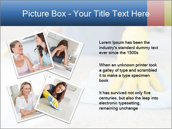 Woman cleaning kitchen PowerPoint Template - Slide 23