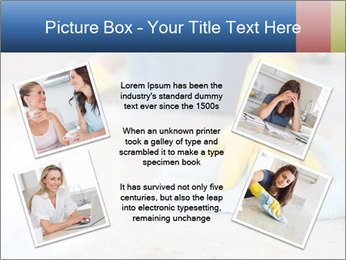 Woman cleaning kitchen PowerPoint Template - Slide 24