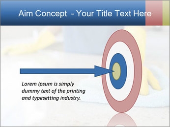 Woman cleaning kitchen PowerPoint Template - Slide 83