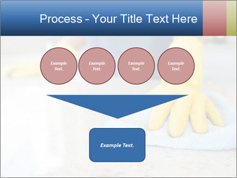Woman cleaning kitchen PowerPoint Template - Slide 93